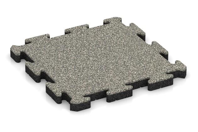 Poolfliese von WARCO im Farbdesign Heller Granit mit den Abmessungen 500 x 500 x 40 mm. Produktfoto von Artikel 2920 in der Aufsicht von schräg vorne.