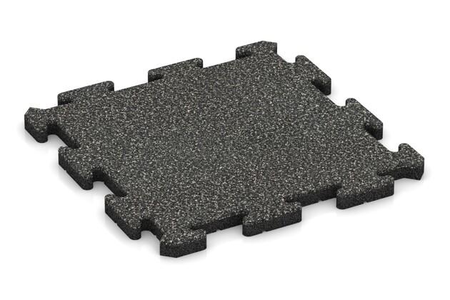 Poolfliese von WARCO im Farbdesign Dunkelgrauer Granit mit den Abmessungen 500 x 500 x 30 mm. Produktfoto von Artikel 2725 in der Aufsicht von schräg vorne.
