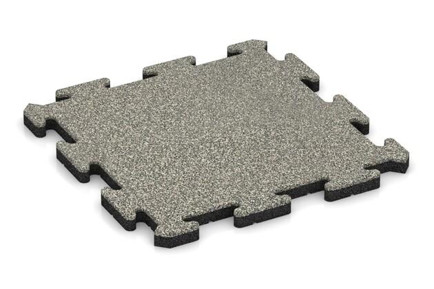 Poolfliese von WARCO im Farbdesign Heller Granit mit den Abmessungen 500 x 500 x 30 mm. Produktfoto von Artikel 2727 in der Aufsicht von schräg vorne.