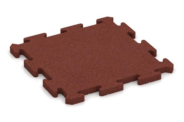 Poolunterlage von WARCO im Farbdesign ziegelrot mit den Abmessungen 500 x 500 x 30 mm. Produktfoto von Artikel 2816 in der Aufsicht von schräg vorne.