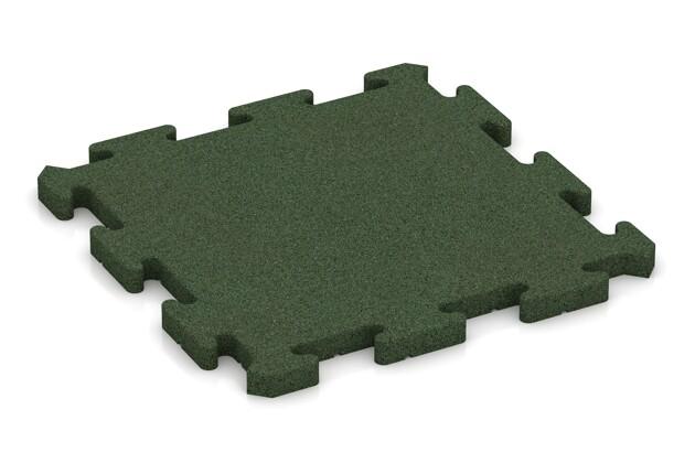 Fitness-Bodenschutzmatte pro von WARCO im Farbdesign grasgrün mit den Abmessungen 500 x 500 x 30 mm. Produktfoto von Artikel 2829 in der Aufsicht von schräg vorne.