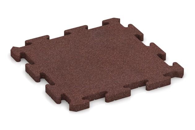 Poolunterlage von WARCO im Farbdesign schokobraun mit den Abmessungen 500 x 500 x 30 mm. Produktfoto von Artikel 2819 in der Aufsicht von schräg vorne.