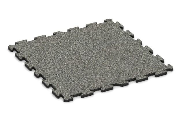 Schwimmbadfliese von WARCO im Farbdesign Grauer Granit mit den Abmessungen 1000 x 1000 x 30 mm. Produktfoto von Artikel 3297 in der Aufsicht von schräg vorne.