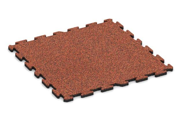 Schwimmbadfliese von WARCO im Farbdesign Feuersglut mit den Abmessungen 1000 x 1000 x 30 mm. Produktfoto von Artikel 3302 in der Aufsicht von schräg vorne.