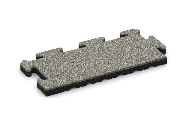 Rand-Abschlussplatte (2 Stück) von WARCO im Farbdesign Heller Granit mit den Abmessungen 500 x 235 x 30 mm. Produktfoto von Artikel 4858 in der Aufsicht von schräg vorne.