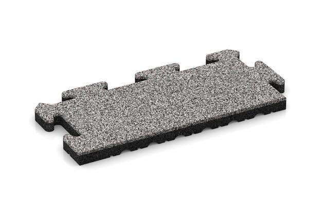 Rand-Abschlussplatte (2 Stück) von WARCO im Farbdesign Graue Melange mit den Abmessungen 500 x 235 x 30 mm. Produktfoto von Artikel 4847 in der Aufsicht von schräg vorne.