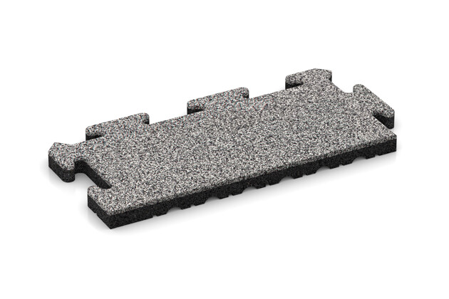 Rand-Abschlussplatte pro (2 Stück) von WARCO im Farbdesign Graue Melange mit den Abmessungen 500 x 235 x 30 mm. Produktfoto von Artikel 4849 in der Aufsicht von schräg vorne.
