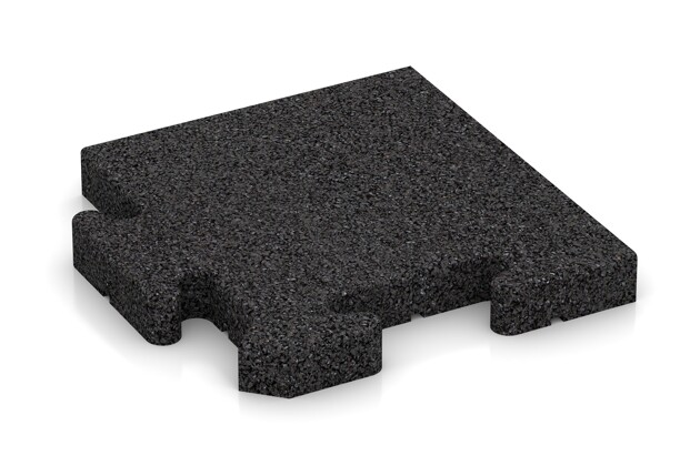 Eck-Abschlussplatte pro (4 Stück) von WARCO im Farbdesign anthrazit mit den Abmessungen 235 x 235 x 30 mm. Produktfoto von Artikel 4916 in der Aufsicht von schräg vorne.