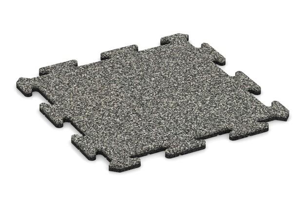 Poolumrandung von WARCO im Farbdesign Grauer Granit mit den Abmessungen 500 x 500 x 18 mm. Produktfoto von Artikel 0125 in der Aufsicht von schräg vorne.