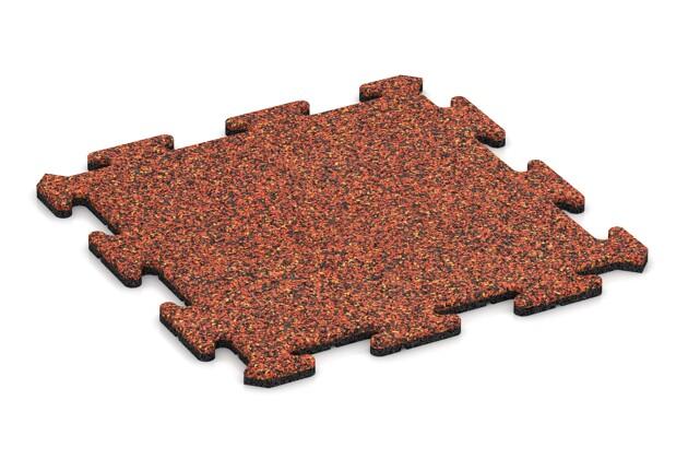 Poolumrandung von WARCO im Farbdesign Feuersglut mit den Abmessungen 500 x 500 x 18 mm. Produktfoto von Artikel 0130 in der Aufsicht von schräg vorne.
