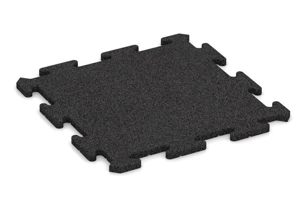 Fallschutz-Treppenbelag von WARCO im Farbdesign anthrazit mit den Abmessungen 500 x 500 x 18 mm. Produktfoto von Artikel 0176 in der Aufsicht von schräg vorne.