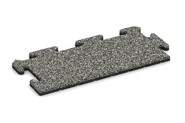 Rand-Abschlussplatte (2 Stück) von WARCO im Farbdesign Grauer Granit mit den Abmessungen 500 x 235 x 18 mm. Produktfoto von Artikel 4690 in der Aufsicht von schräg vorne.