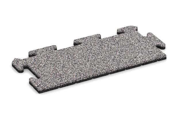 Rand-Abschlussplatte pro (2 Stück) von WARCO im Farbdesign Graue Melange mit den Abmessungen 500 x 235 x 18 mm. Produktfoto von Artikel 4683 in der Aufsicht von schräg vorne.