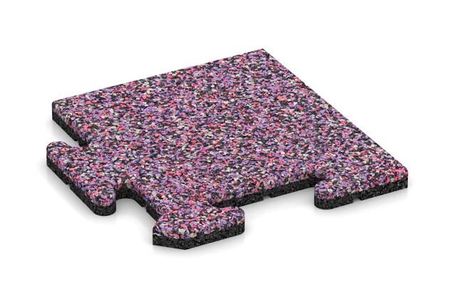 Eck-Abschlussplatte (4 Stück) von WARCO im Farbdesign Lavendel mit den Abmessungen 235 x 235 x 18 mm. Produktfoto von Artikel 4709 in der Aufsicht von schräg vorne.