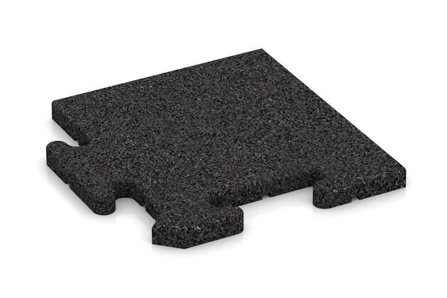 Eck-Abschlussplatte pro (4 Stück) von WARCO im Farbdesign anthrazit mit den Abmessungen 235 x 235 x 18 mm. Produktfoto von Artikel 4820 in der Aufsicht von schräg vorne.