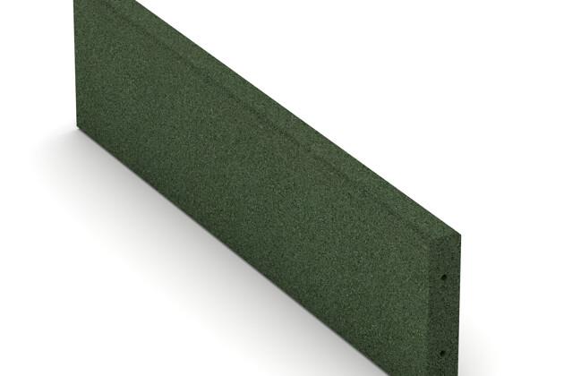 Gummi-Randstein (Tiefbord) von WARCO im Farbdesign grasgrün mit den Abmessungen 1000 x 250 x 50 mm. Produktfoto von Artikel 2594 in der Aufsicht von schräg vorne.