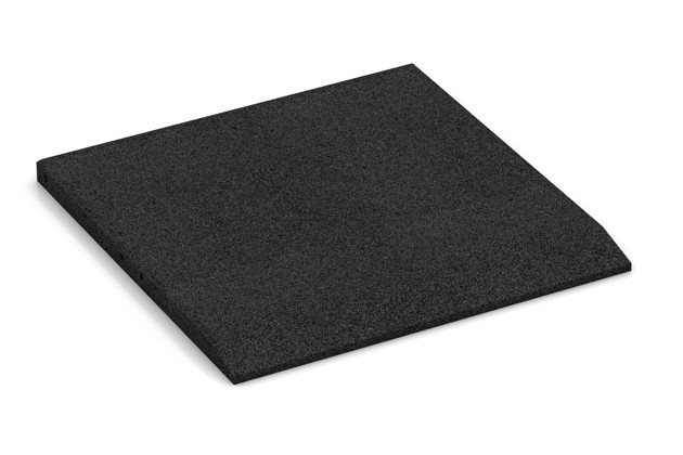 Rand-Platte (eine Seite abgeschrägt) von WARCO im Farbdesign anthrazit mit den Abmessungen 500 x 500 x 30 mm. Produktfoto von Artikel 0425 in der Aufsicht von schräg vorne.