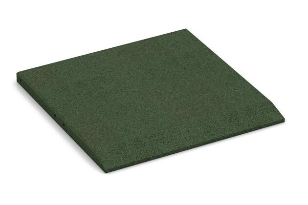 Rand-Platte (eine Seite abgeschrägt) von WARCO im Farbdesign grasgrün mit den Abmessungen 500 x 500 x 30 mm. Produktfoto von Artikel 0423 in der Aufsicht von schräg vorne.