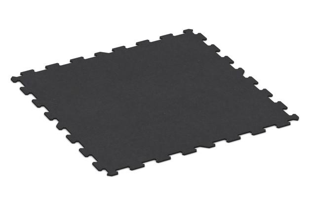 Fitnessmatte von WARCO im Farbdesign anthrazit matt mit den Abmessungen 956 x 956 x 8 mm. Produktfoto von Artikel 1064 in der Aufsicht von schräg vorne.
