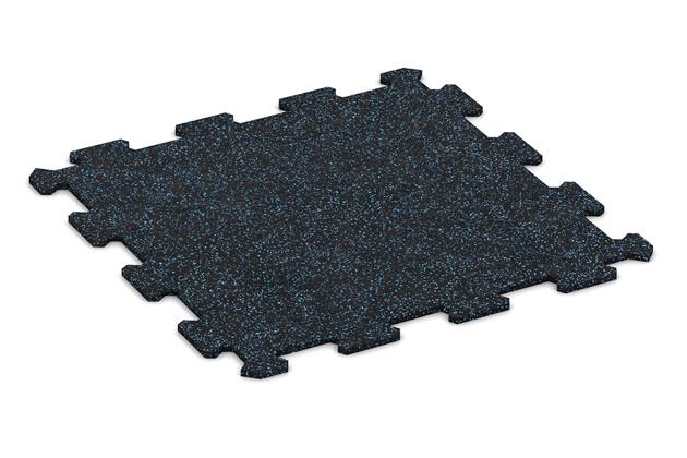 Fitnessmatte von WARCO im Farbdesign Leicht Blau Gesprenkelt mit den Abmessungen 478 x 478 x 8 mm. Produktfoto von Artikel 0917 in der Aufsicht von schräg vorne.