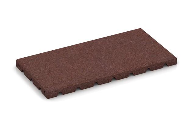 halbe Platte von WARCO im Farbdesign schokobraun mit den Abmessungen 500 x 250 x 30 mm. Produktfoto von Artikel 0379 in der Aufsicht von schräg vorne.
