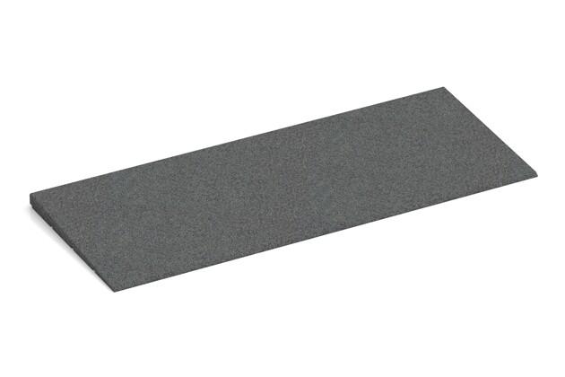 Anti-Stolper-Keil von WARCO im Farbdesign schiefergrau mit den Abmessungen 750 x 300 x 25/8 mm. Produktfoto von Artikel 2301 in der Aufsicht von schräg vorne.
