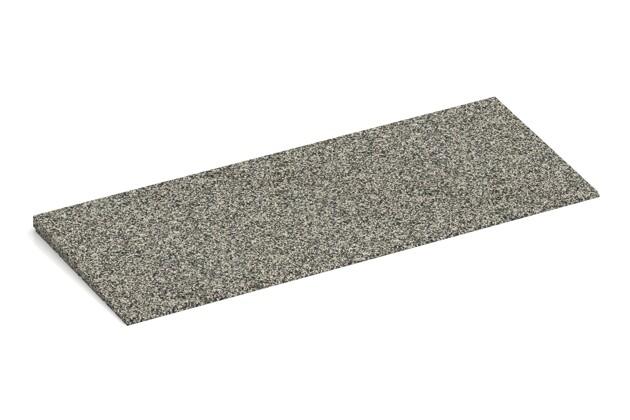 Anti-Stolper-Keil von WARCO im Farbdesign Heller Granit mit den Abmessungen 750 x 300 x 25/8 mm. Produktfoto von Artikel 2276 in der Aufsicht von schräg vorne.