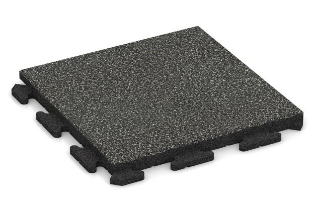 Poolfliese von WARCO im Farbdesign Dunkelgrauer Granit mit den Abmessungen 500 x 500 x 40 mm. Produktfoto von Artikel 1339 in der Aufsicht von schräg vorne.