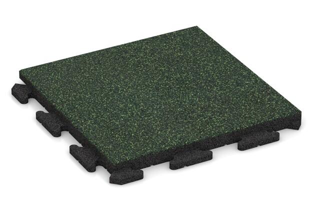 Poolfliese von WARCO im Farbdesign Englischer Rasen mit den Abmessungen 500 x 500 x 40 mm. Produktfoto von Artikel 1342 in der Aufsicht von schräg vorne.