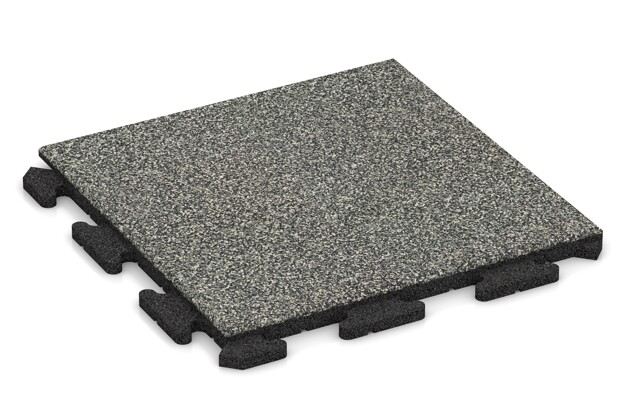 Poolfliese von WARCO im Farbdesign Grauer Granit mit den Abmessungen 500 x 500 x 30 mm. Produktfoto von Artikel 1207 in der Aufsicht von schräg vorne.