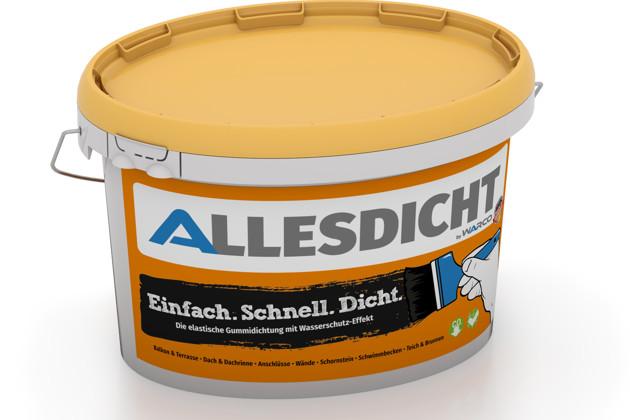 ALLESDICHT von WARCO im Farbdesign schwarz mit den Abmessungen 3 kg. Produktfoto von Artikel 0004 in der Aufsicht von schräg vorne.