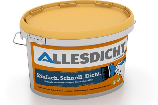 ALLESDICHT von WARCO im Farbdesign blau mit den Abmessungen 3 kg. Produktfoto von Artikel 0001 in der Aufsicht von schräg vorne.