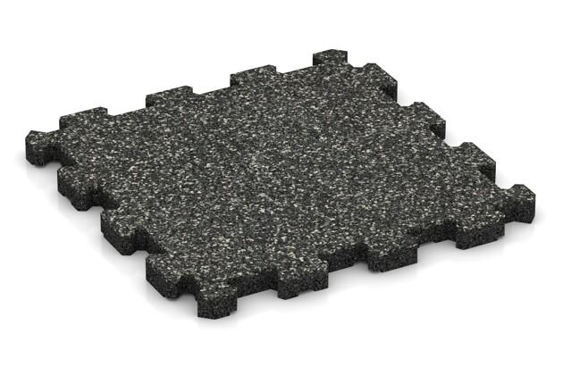 Poolfliese von WARCO im Farbdesign Dunkelgrauer Granit mit den Abmessungen 306 x 306 x 20 mm. Produktfoto von Artikel 3848 in der Aufsicht von schräg vorne.