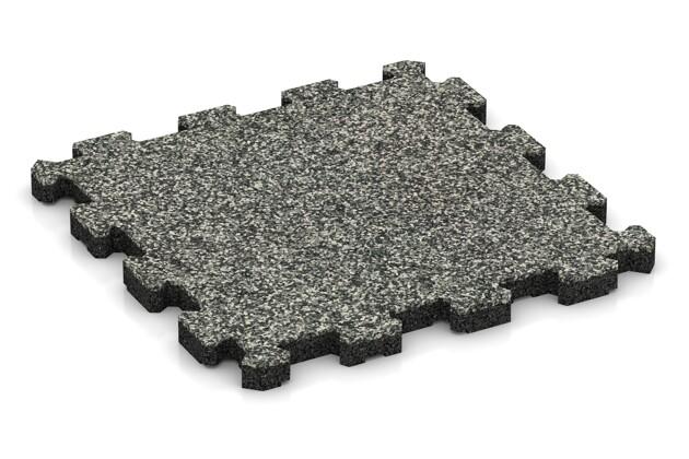 Poolfliese von WARCO im Farbdesign Grauer Granit mit den Abmessungen 306 x 306 x 20 mm. Produktfoto von Artikel 3849 in der Aufsicht von schräg vorne.