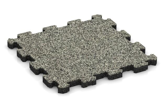 Poolfliese von WARCO im Farbdesign Heller Granit mit den Abmessungen 306 x 306 x 20 mm. Produktfoto von Artikel 3850 in der Aufsicht von schräg vorne.